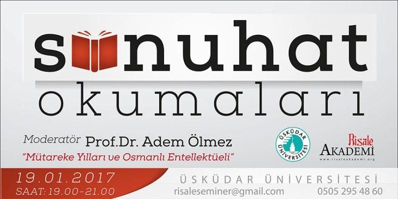 İstanbul'da 'Sünuhat okumaları' başlıyor