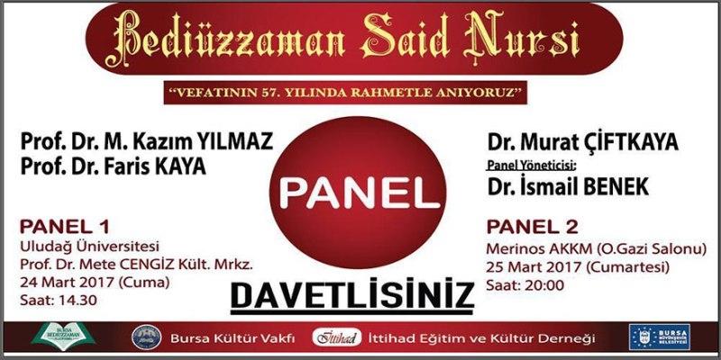 Bursa'da Bediüzzaman Said Nursi'yi anma programı