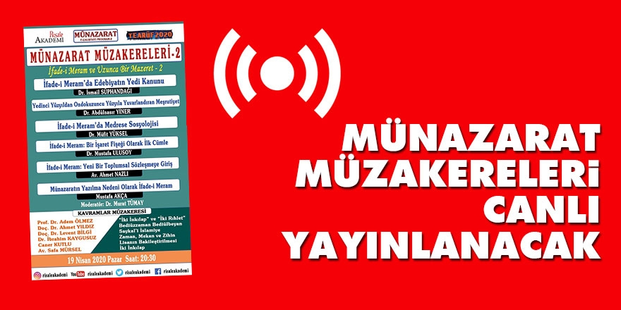 MÜNAZARAT E-ÇALIŞTAYI PROGRAMI-2