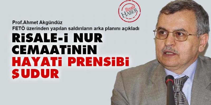 Prof. Dr. Ahmet Akgündüz, FETÖ'ye dair ayrıntılı açıklamalarda bulundu