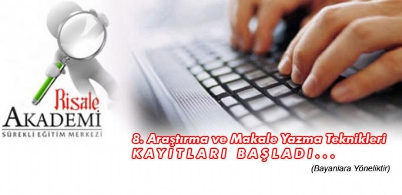 8. Araştırma ve Makale Yazma Teknikleri