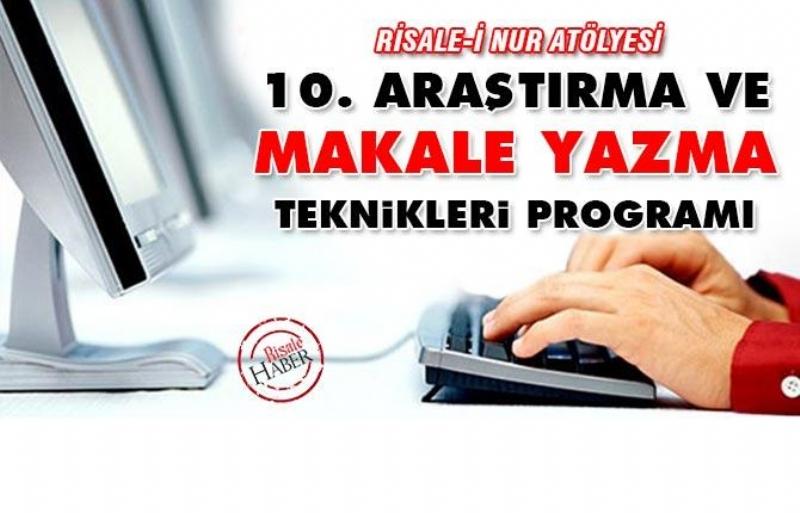 10. ARAŞTIRMA VE MAKALE YAZMA TEKNİKLERİ PROGRAMI