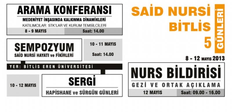 Said Nursi Bitlis Günleri Programı