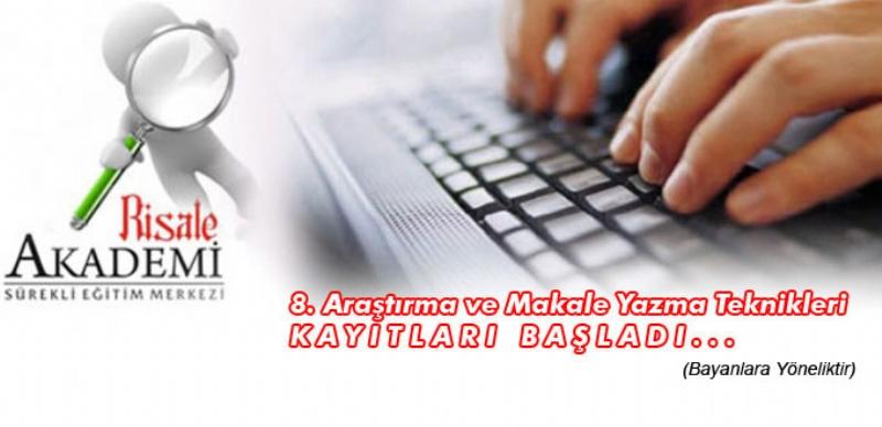 8. Araştırma ve Makale Yazma Teknikleri Atölyesi