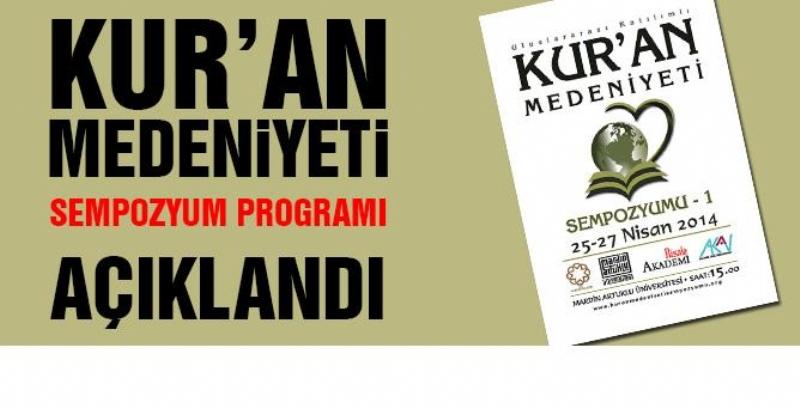 Kur'an Medeniyeti Sempozyumu Programı