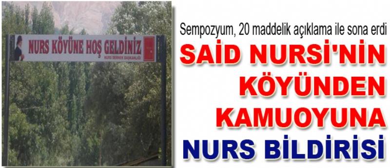 Nurs Bildirisi olarak kamuoyuna açıklandı