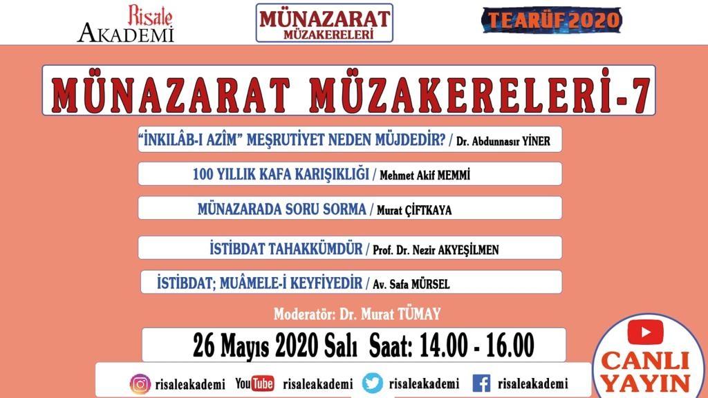 MÜNAZARAT E-ÇALIŞTAYI PROGRAMI-7