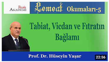Tabiat, Vicdan ve Fıtratın Bağlamı - Prof. Dr. Hüseyin YAŞAR
